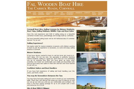 Fal Wooden Boat Hire Website