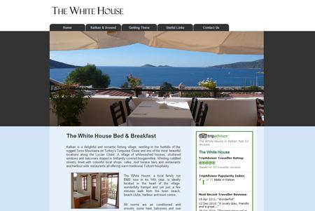 Kalkan Whitehouse Hotel Web Design