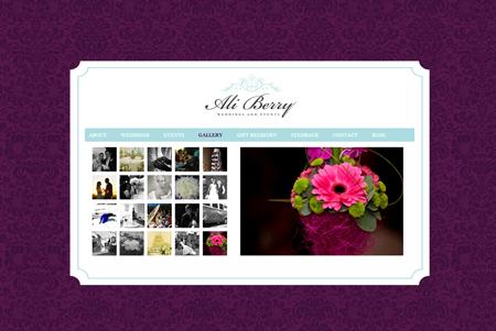 Ali Berry Weddings Website