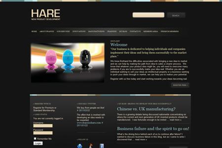 Hare new product development website
