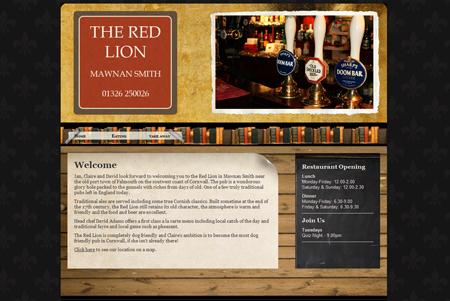 The Red Lion pub website