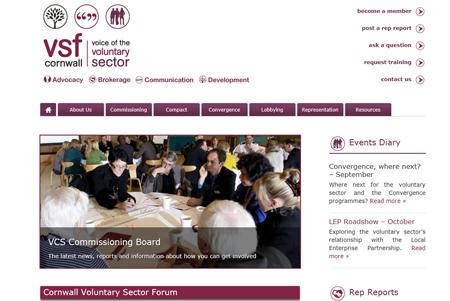 Cornwall Voluntary Sector Forum Website