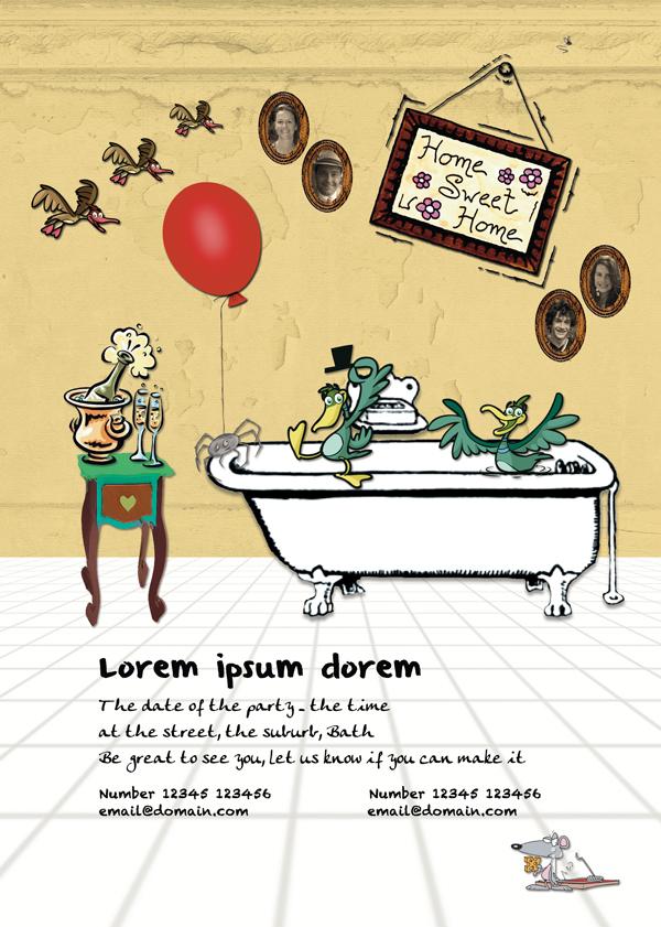 Graphic design for party invitation