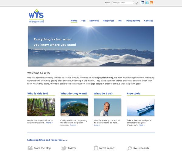 Where You Stand WordPress Design and Build